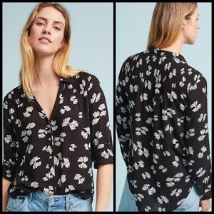 Anthropologie Emory Printed Button Down Shirt 8